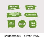 organic product  green menu ... | Shutterstock .eps vector #649547932