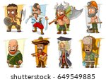 cartoon cool funny different... | Shutterstock .eps vector #649549885