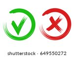 check mark  accepted  declined. ... | Shutterstock .eps vector #649550272