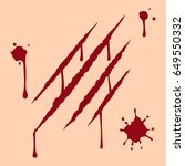 scar  blood  vector  isolated. | Shutterstock .eps vector #649550332