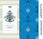 nautical banner  anchor with... | Shutterstock .eps vector #649550776