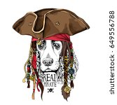 Portrait Of A Spaniel Dog In...