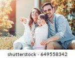 portrait of happy family having ... | Shutterstock . vector #649558342