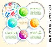 school education infographics... | Shutterstock .eps vector #649564945
