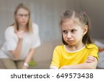 mother scolds her young...   Shutterstock . vector #649573438