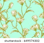 illustration made by ink on... | Shutterstock . vector #649574302