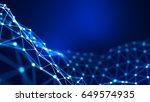 abstract background. 3d... | Shutterstock . vector #649574935