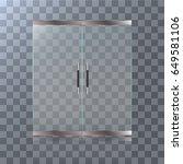 double glass doors to the... | Shutterstock .eps vector #649581106