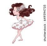cute girl vector graphic.   Shutterstock .eps vector #649594735