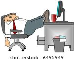 feet on the desk | Shutterstock . vector #6495949