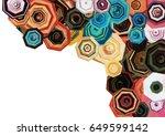 abstract flowers shape... | Shutterstock . vector #649599142
