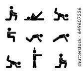 exercises body workout... | Shutterstock . vector #649607236