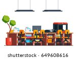 diy workshop studio room... | Shutterstock .eps vector #649608616