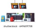 modern international airport... | Shutterstock .eps vector #649609708