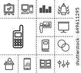 presentation icon. set of 13... | Shutterstock .eps vector #649611295