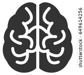 gray brain interface toolbar... | Shutterstock .eps vector #649614256