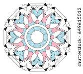 creative mandala design. flat...