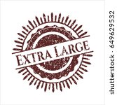 red extra large distressed...   Shutterstock .eps vector #649629532