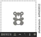 teddy bear icon flat. simple... | Shutterstock .eps vector #649633012