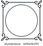 round vintage vector photo... | Shutterstock .eps vector #649636195