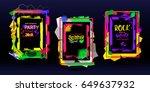 web banners  summer design for...   Shutterstock .eps vector #649637932
