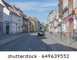 odense denmark stone paved... | Shutterstock . vector #649639552