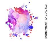 abstract black ink blot...   Shutterstock .eps vector #649647562