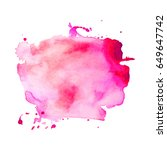 abstract hand drawn watercolor... | Shutterstock .eps vector #649647742