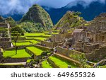 ancient inca city of machu... | Shutterstock . vector #649655326