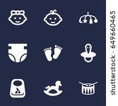 set of 9 kid icons set... | Shutterstock .eps vector #649660465