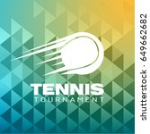 tennis tournament logo vector...   Shutterstock .eps vector #649662682