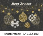 merry christmas and happy new... | Shutterstock .eps vector #649666102