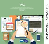 tax auditing concepts. auditor... | Shutterstock .eps vector #649668418