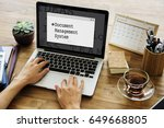 document management system... | Shutterstock . vector #649668805