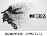 motocross drivers silhouette....