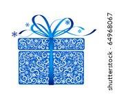 stylized gift   vector   Shutterstock .eps vector #64968067