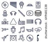 music icons set. set of 25... | Shutterstock .eps vector #649681138