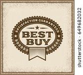 vintage best buy label | Shutterstock . vector #649682032