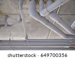 supply water and sewer pipes... | Shutterstock . vector #649700356