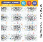 commerce icon set clean vector   Shutterstock .eps vector #649715755