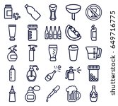 bottle icons set. set of 25... | Shutterstock .eps vector #649716775