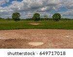 Baseball Field On A Cloudy...
