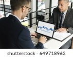 business people  analysis... | Shutterstock . vector #649718962