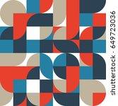 abstract retro vintage... | Shutterstock .eps vector #649723036