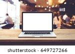 modern computer laptop with...   Shutterstock . vector #649727266