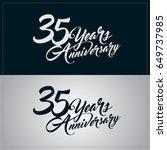 35 years anniversary... | Shutterstock .eps vector #649737985