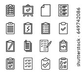 clipboard icons set. set of 16... | Shutterstock .eps vector #649742086