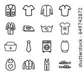 clothing icons set. set of 16... | Shutterstock .eps vector #649742872