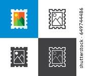 postage stamp | Shutterstock .eps vector #649744486