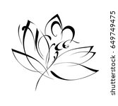 stylized flowers on a white... | Shutterstock .eps vector #649749475